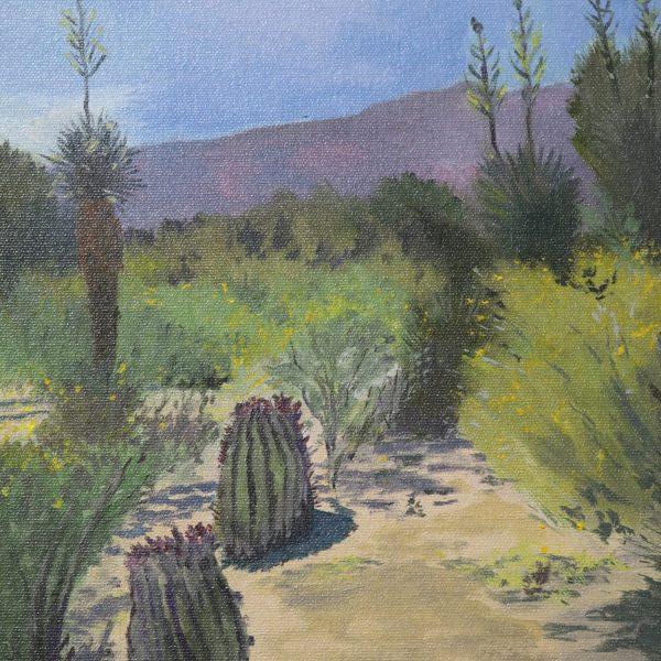 "Janis Buller / Cactus Garden / Oil / Image size: 9"" x 12"" / Framed size: 11"" x 14"""