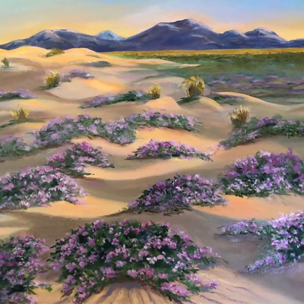 """Rod Callahan / Dunes in Bloom / Oil on box canvas / 24"""" x 20"""""""