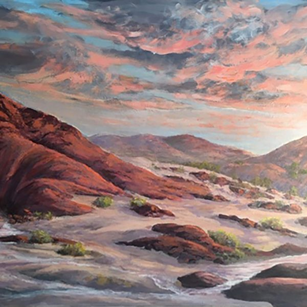 "Jorg Christiansen / Red Rock / Acrylic / 36"" x 24"""