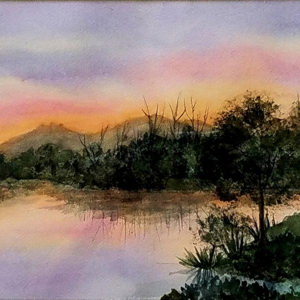 Locke_Deane_Sunset_On_the_Lake